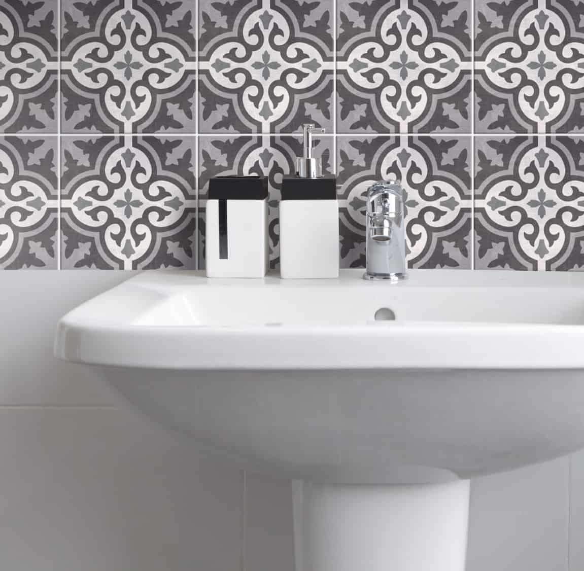 Fliesenaufkleber f r k che und badezimmer marokkanisch azulejo wunderwand - Badezimmer marokkanisch ...