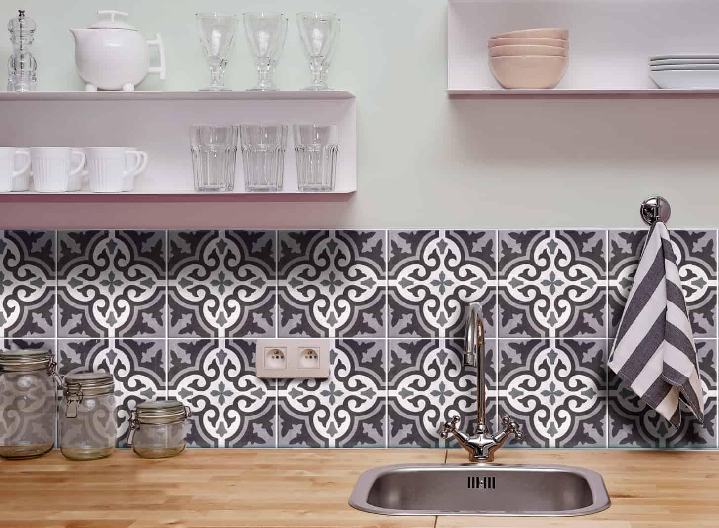 Fliesenaufkleber für Küche und Badezimmer – Marokkanisch Azulejo ...