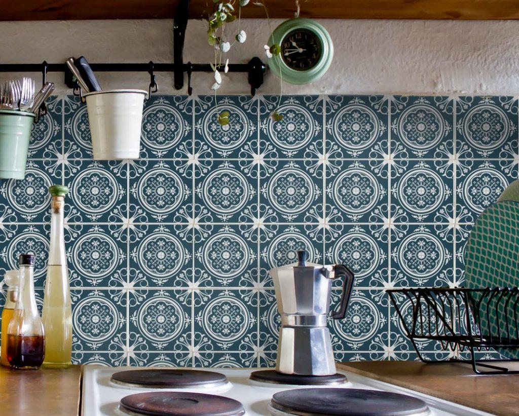 Fliesenaufkleber Für Bad Deko U. Küche   Azulejo Portugiesisch Dunkelblau