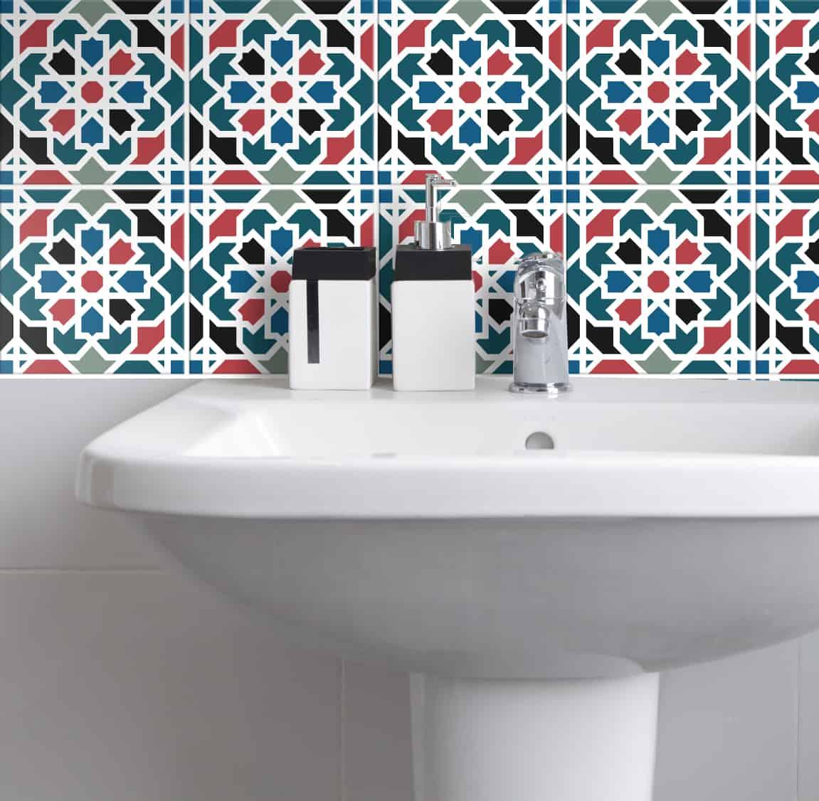 Fliesenaufkleber Küche und Badezimmer – Orientalisch Geometrisch ...