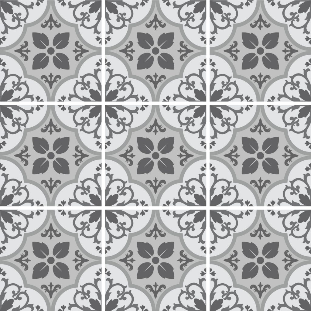 Fliesenaufkleber f r k che und bad marokkanisch floral - Badezimmer marokkanisch ...