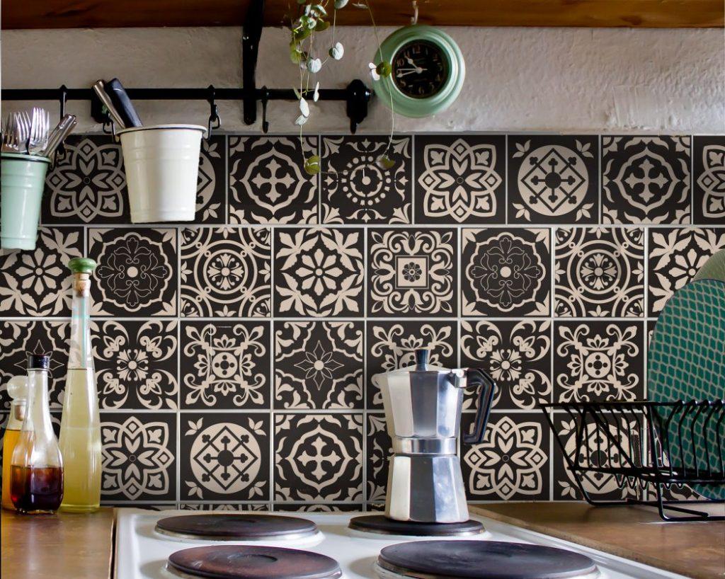 Fliesenaufkleber Für Bad Deko U. Küche   Portugiesisch Braun Creme