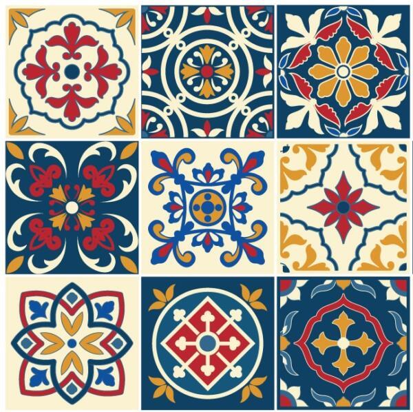 Fliesenaufkleber für Bad Deko u. Küche - Portugiesisch Traditionell