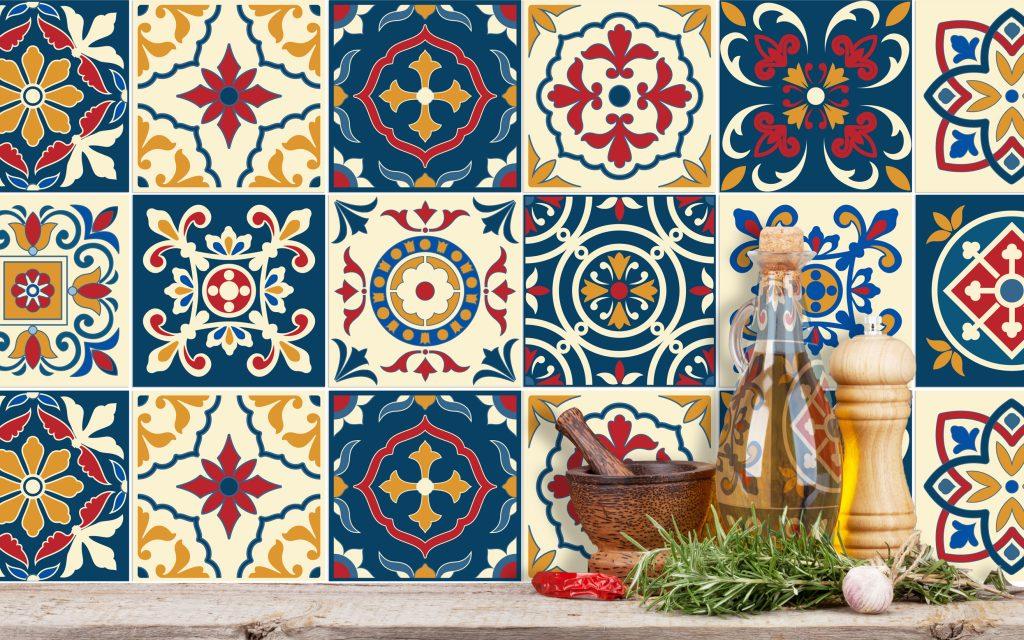 Fliesenaufkleber für Küche & Badezimmer - Portugiesisch Traditionell