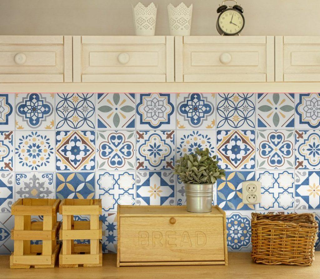 Fliesenaufkleber für Küche und Badezimmer   Spanisch Patchwork