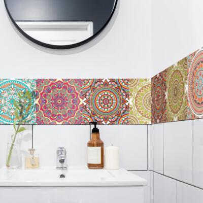 & im Badezimmer